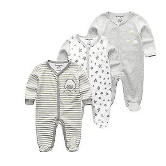 Новорожденный Зимний Ребенок Ромперс Длинный рукав Установить Хлопок Jumpsuit Baby Одежда