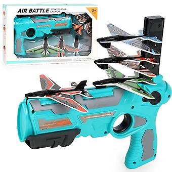 Bubble Catapult Plane Toy Airplane Shooting Game Toy With 4 Airplane Launchers