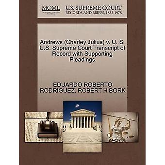 Andrews (Charley Julius) V. U. S. U.S. Supreme Court Transcript of Re