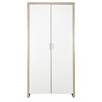 Tutti Bambini Modena Wardrobe - White and Classic Oak