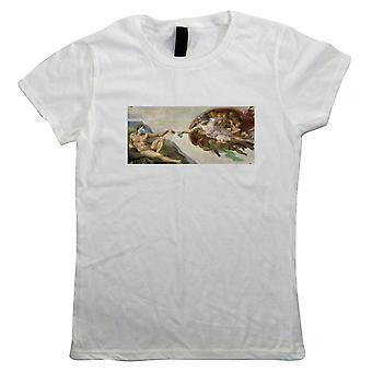 Création de désinfectant pour les mains, T-shirt femmes - Funny Art Painting Parodie Cadeau Son