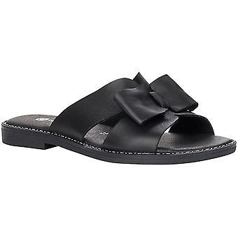 Black Casual Low Heel Slippers