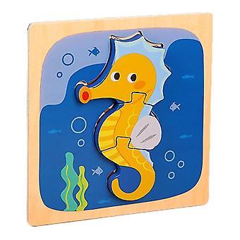3Dパズルおもちゃ子供の知的教育ジグソーパズルギフト海馬pt97