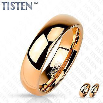 טיסטן טונגסטן מלוטש טיטניום רגיל עלה זהב IP טבעת נישואין טבעת נישואין