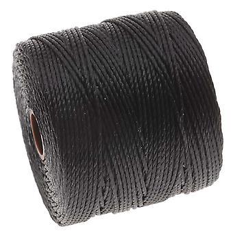 Super-Lon (S-Lon) Cord - Size 18 Twisted Nylon - Black / 77 Yard Spool