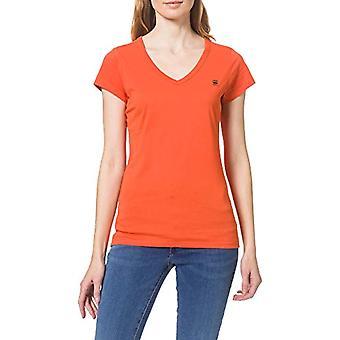 G-STAR RAW Eyben Slim V-Neck T-Shirt, Acid Orange 2757-b214, L Kvinna