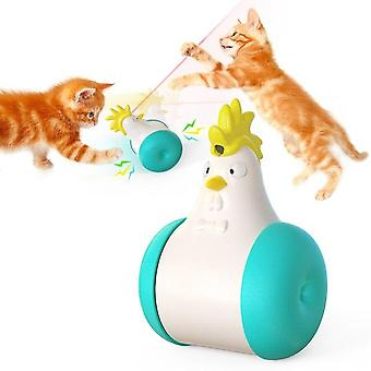 Electric Multi Function Sounding Tumbler Laser Tease Toys For Cat Automatic Movement(green)