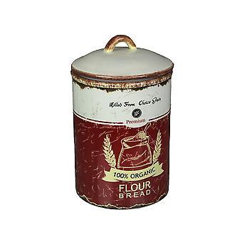 Retro Ceramic Flour Jar Kitchen Canister Airtight Food Storage Farmhouse Decor