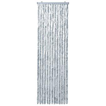 vidaXL Repellente Tenda Bianca e Grigia 90x200 cm Chenille