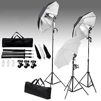 vidaXL Fotostudio-Kit mit Hintergrund und Beleuchtungsset