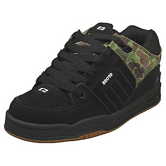 Globe Fusion Mens Skate Trainers in Black Camouflage