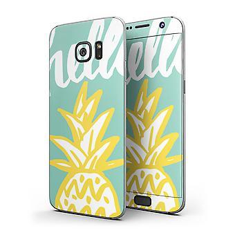 Bem Olá Abacaxi - Corpo Completo Skin Kit para o Samsung Galaxy S7 Ou