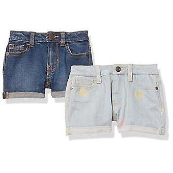 Essentials Girls' 2-Pack Denim Jean Short