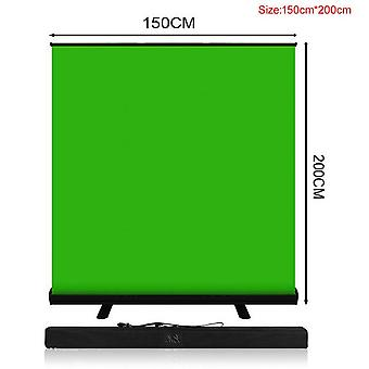 Pynsseu 150cm * 200cm taustalla kokoontaitettava vihreä näyttö kromakey tausta pull-up stand youtube videopeli virtuaalistudio