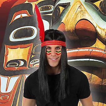 Peruukit intialainen mies Brunette 119607