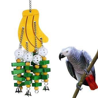 Vogel speelgoed kauwen spelen speelgoed grote middelgrote parkiet kleurrijke houten blokken swing voedsel grade speelgoed