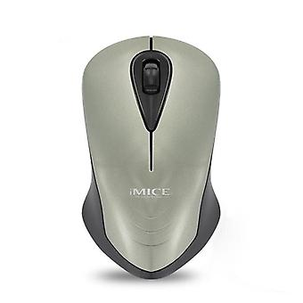 E-2370 1200DPI 2.4GHz Wireless Optical Mouse for Desktop PC Office Use Grey