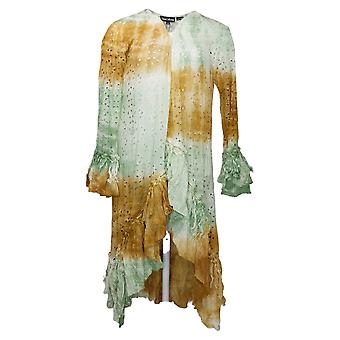 Tolani Collection Swimsuit Tie-Die Tassel Slv Wrap Cover-Up Green A377651