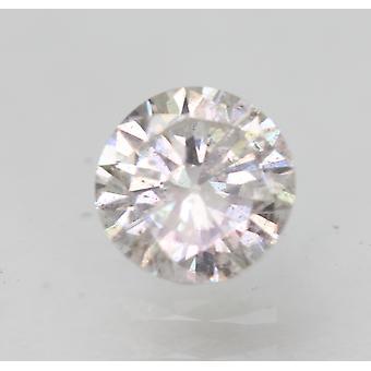 Certified 0.61 Carat G SI2 Round Brilliant Enhanced Natural Loose Diamond 5.32mm