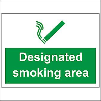 NS045 Designated Smoking Area Sign with Cigarette
