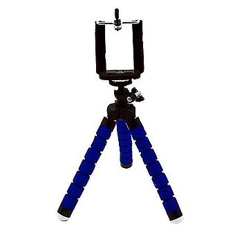 Mini tripod stand versitile desk phone holder(Blue)