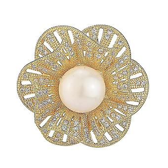 Antiglare bross csap virág fűző gyémánt intarid ötvözet női bross
