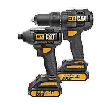 CAT 18V 2in1 Combo Kit(Hammer Drill & Impact Driver)/DX12K