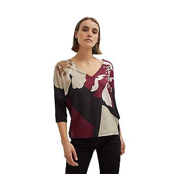 Shuuk Women´s V-Neck Printed Blouse with 3/4 Sleeves Unique and Stylish Design