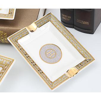 Porcelain Cigar Ashtray Smoking Accessories Classic Designs Ceramic Trays Decorative