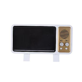 Power adapter charger accessories retro tv design 3d phone screen magnifier mini bluetooth speaker cell phone holder