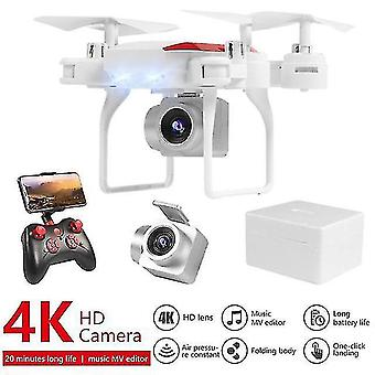 Remote control helicopters ky606d folding drone aerial photography 4k pixel camera quadcopter air pressure fixed height black