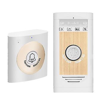 Door bells chimes wireless voice intercom doorbell 2 way talk monitor unit smart home security white