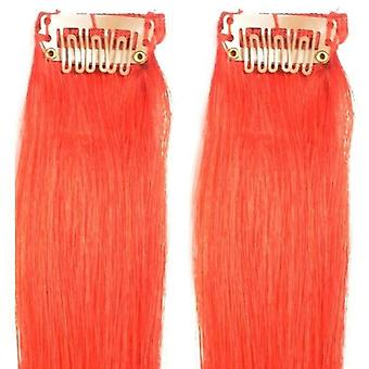 Red - Clip-in Hair Streaks