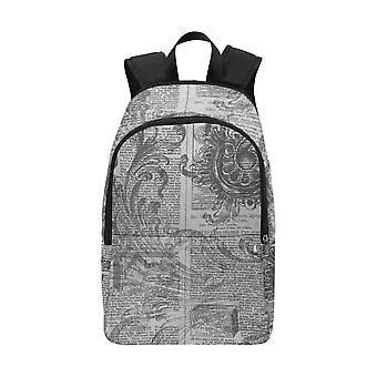Laptop backpack (nylon) - vintage literary