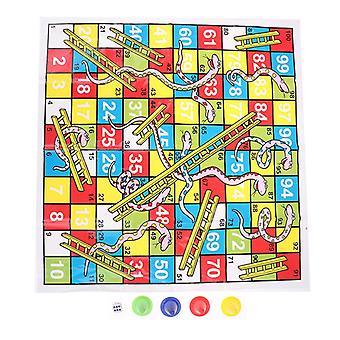 1 Set Snake Ladder Leksaker bräd spel set bärbar flygande schack styrelse