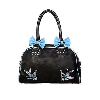 Banned Blue Swallows Handbag