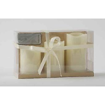 3 couleur ivoire sans flamme LED cire humeur bougie ensemble avec télécommande décoration cadeau grande pièces