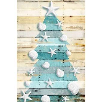 ジェイス灰色で沿岸のクリスマス ツリー ポスター印刷