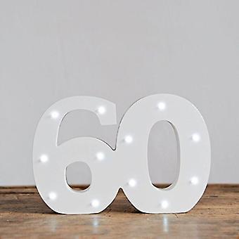 Lettre de LED - lumières Yesbox Lettre numéro 60