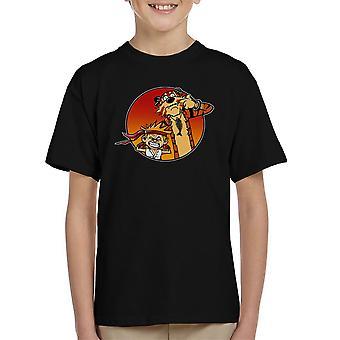 Street Pals Street Fighter Calvin And Hobbes Kid's T-Shirt