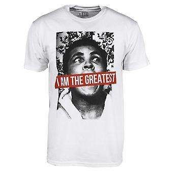 Muhammad Ali Mens Muhammad Ali I Am The Greatest T Shirt White