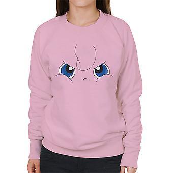 Grumpy Jigglypuff Face Pokemon Women's Sweatshirt