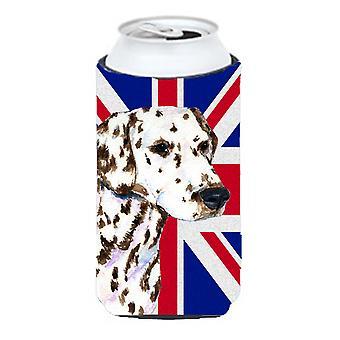 Dalmatian with English Union Jack British Flag Tall Boy Beverage Insulator Hugge