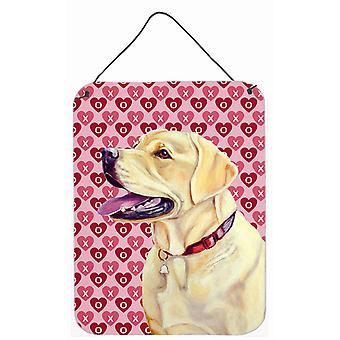 Labrador Herzen Liebe und Valentinstag Portrait Wand oder Tür hängen Drucke
