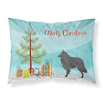 Groenendael Belgian Shepherd Christmas Fabric Standard Pillowcase