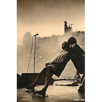Перль джэм - опираясь живой Пизанской Плакат Плакат Печать