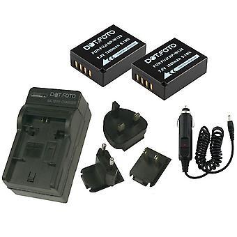 Dot.Foto Fujifilm NP-W126 - 7.2V / 1260mAh batteri (2-Pack) og batteri rejse oplader