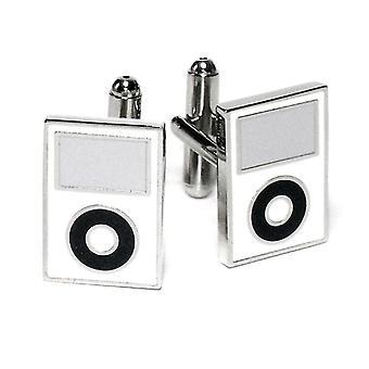 Silver-Tone Men's Cuff Links MP3 Player Cufflinks