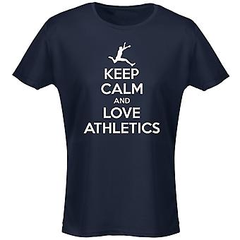 Keep Calm And Love Athletics Womens T-Shirt 8 Colours (8-20) by swagwear
