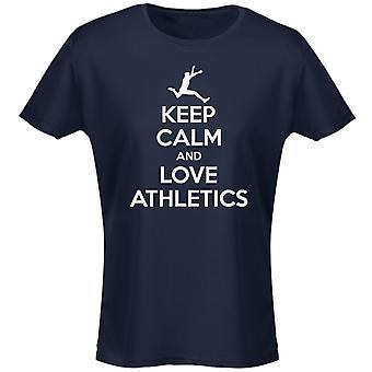 Hålla lugn och kärlek friidrott Womens T-Shirt 8 färger (8-20) av swagwear